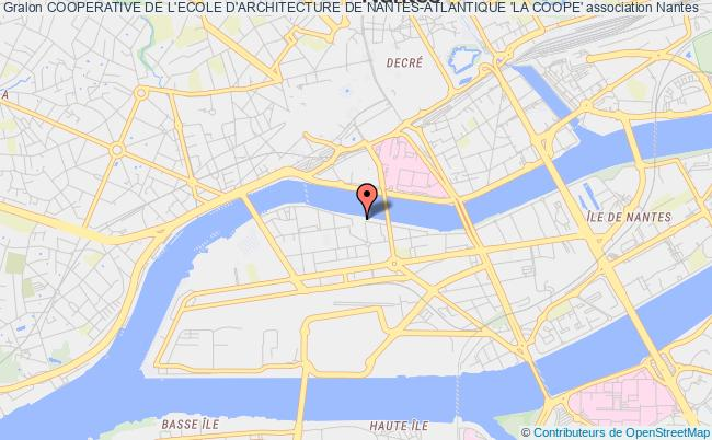 plan association Cooperative De L'ecole D'architecture De Nantes-atlantique 'la Coope'