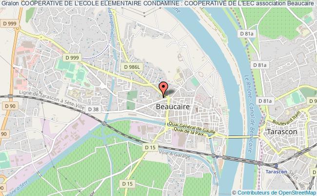 plan association Cooperative De L'ecole Elementaire Condamine : Cooperative De L'eec