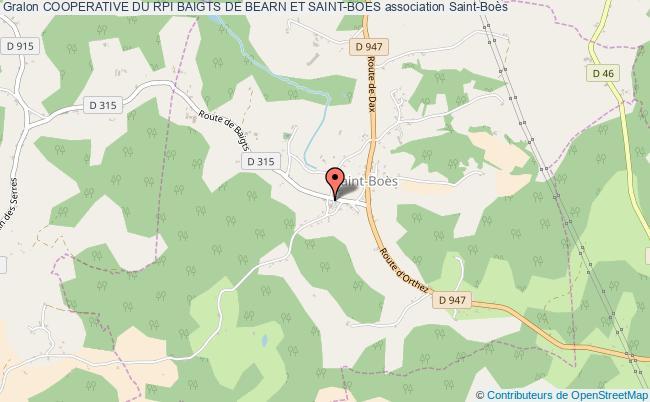 plan association Cooperative Du Rpi Baigts De Bearn Et Saint-boes