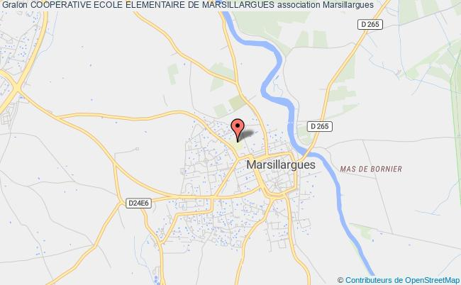 plan association Cooperative Ecole Elementaire De Marsillargues