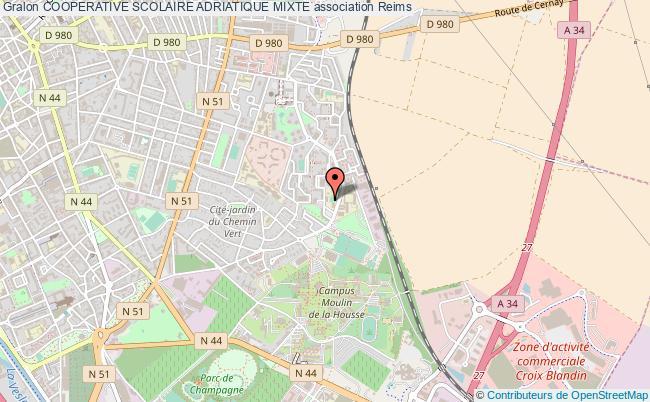 plan association Cooperative Scolaire Adriatique Mixte