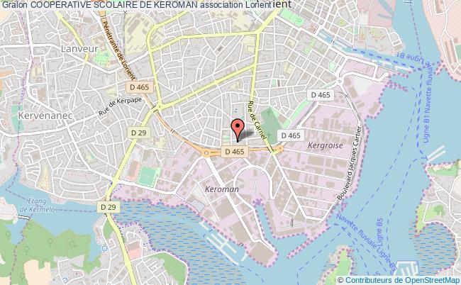 plan association Cooperative Scolaire De Keroman