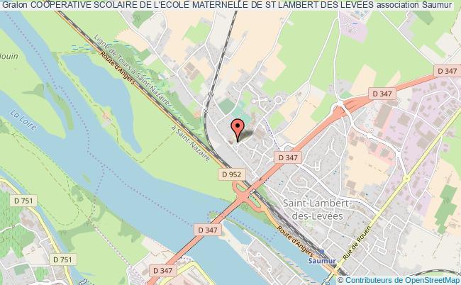 plan association Cooperative Scolaire De L'ecole Maternelle De St Lambert Des Levees
