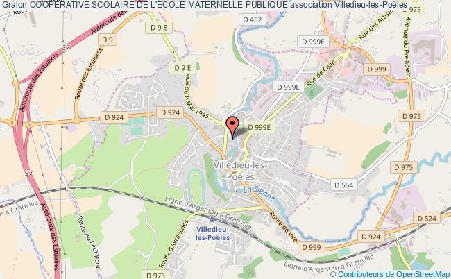 plan association Cooperative Scolaire De L'ecole Maternelle Publique Villedieu-les-Poêles