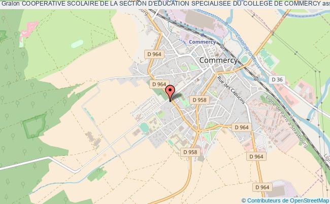 plan association Cooperative Scolaire De La Section D'education Specialisee Du College De Commercy