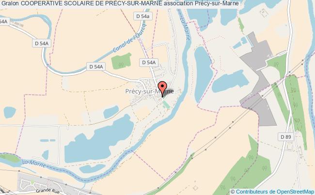 plan association Cooperative Scolaire De Precy-sur-marne Précy-sur-Marne