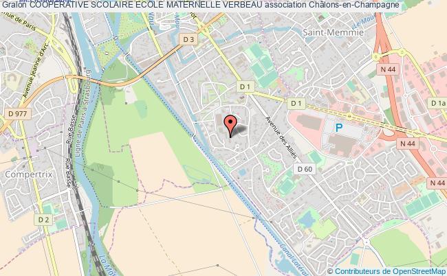 plan association Cooperative Scolaire Ecole Maternelle Verbeau