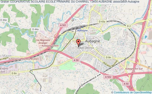 plan association Cooperative Scolaire Ecole Primaire Du Charrel 13400 Aubagne