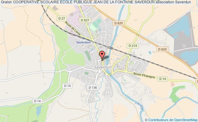 plan association Cooperative Scolaire Ecole Publique Jean De La Fontaine Saverdun