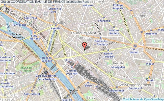 plan association Coordination Eau-ile De France Paris