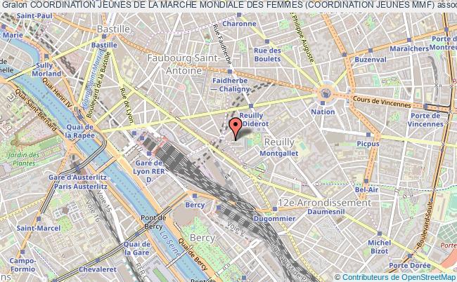 plan association Coordination Jeunes De La Marche Mondiale Des Femmes (coordination Jeunes Mmf) Paris