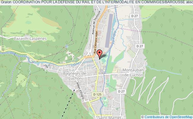 plan association Coordination Pour La Defense Du Rail Et De L'intermodalite En Comminges/barousse Bagnères-de-Luchon
