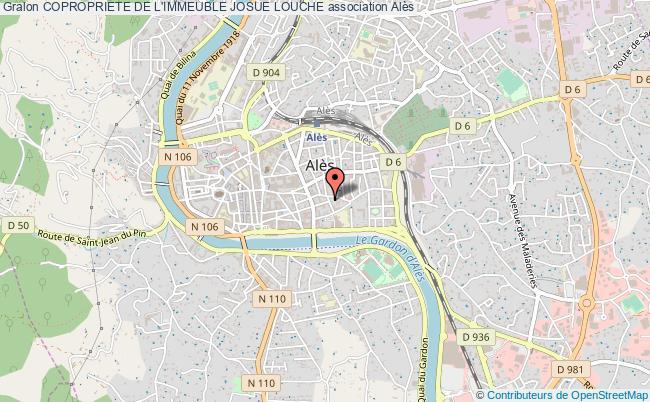 plan association Copropriete De L'immeuble Josue Louche