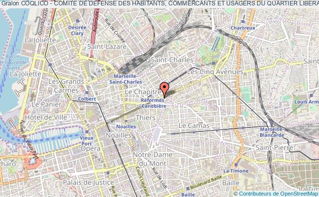 plan association Coqlico - Comite De Defense Des Habitants, Commercants Et Usagers Du Quartier Liberation-consolat