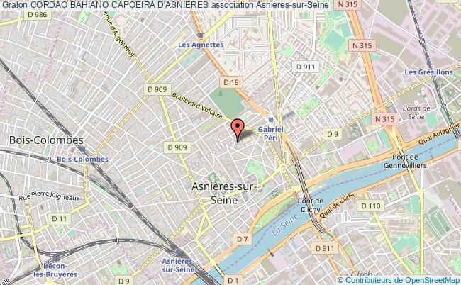 plan association Cordao Bahiano Capoeira D'asnieres Asnières-sur-Seine