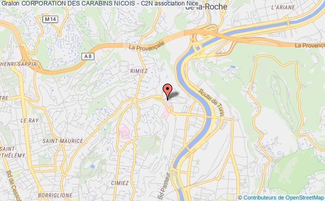 plan association Corporation Des Carabins Nicois - C2n