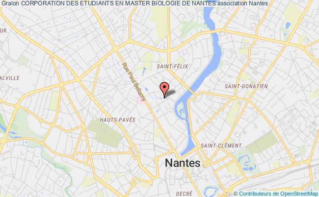 plan association Corporation Des Etudiants En Master Biologie De Nantes