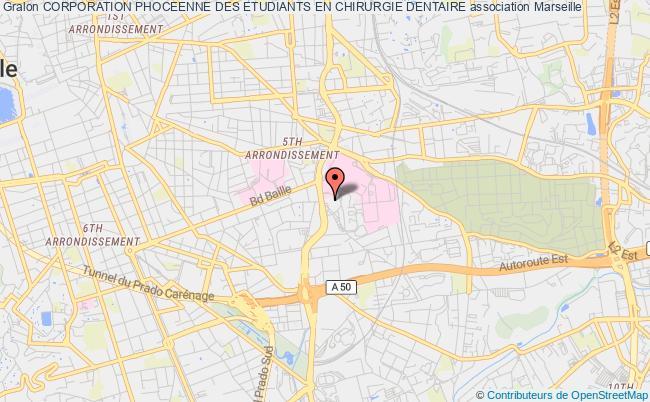 plan association Corporation Phoceenne Des Etudiants En Chirurgie Dentaire Marseille