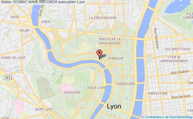 plan association Cosmic Wave Records Lyon