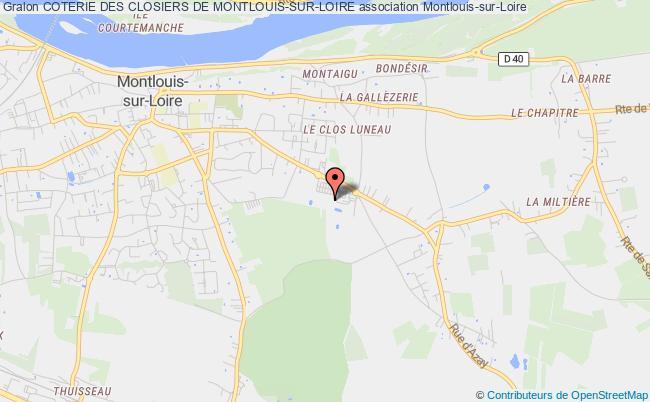 plan association Coterie Des Closiers De Montlouis-sur-loire