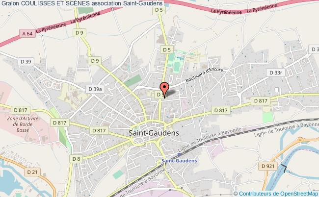 plan association Coulisses Et ScÈnes Saint-Gaudens
