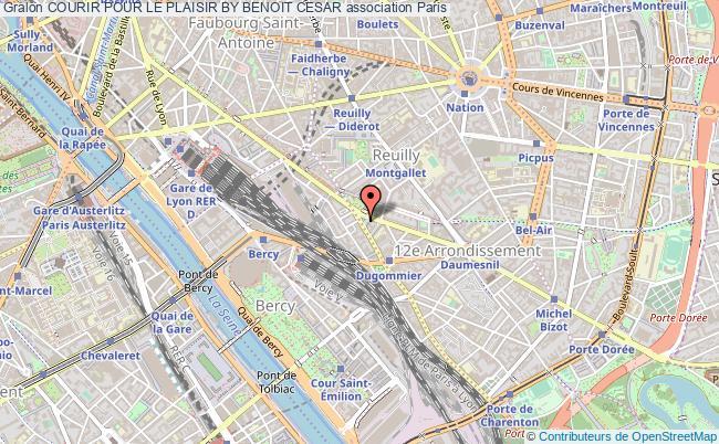 plan association Courir Pour Le Plaisir By Benoit Cesar Paris