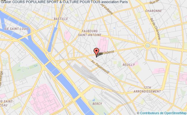 plan association Cours Populaire Sport & Culture Pour Tous Paris