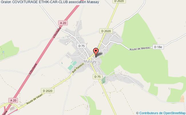 plan association Covoiturage Ethik-car-club Massay
