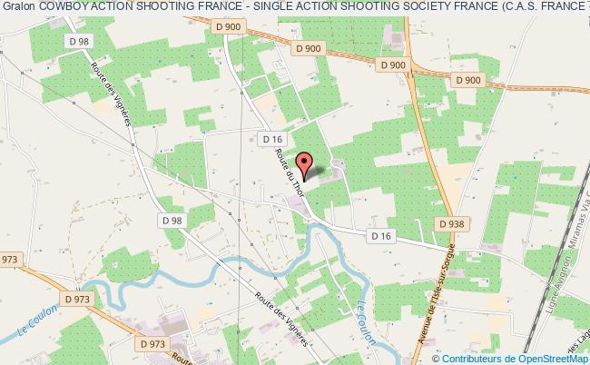 plan association Cowboy Action Shooting France - Single Action Shooting Society France (c.a.s. France - Sass France)