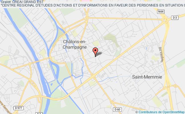 """plan association Creai Grand Est """"centre Regional D'etudes D'actions Et D'informations En Faveur Des Personnes En Situation De Vulnerabilite Grand Est"""""""