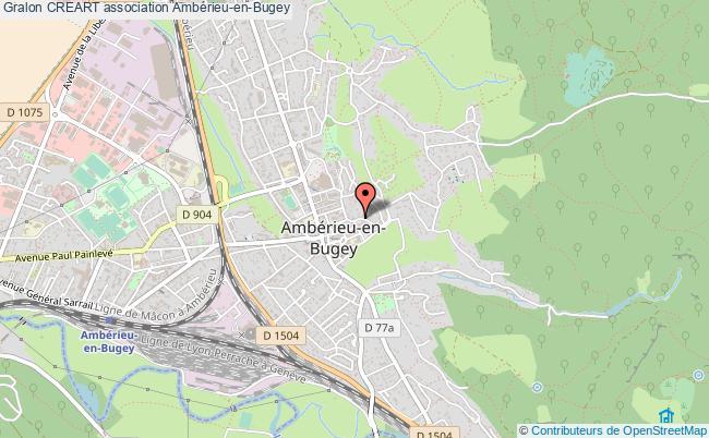 plan association Creart Ambérieu-en-Bugey