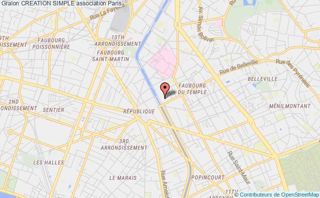 plan association Creation Simple Paris