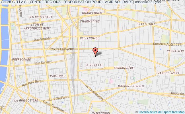 plan association C.r.i.a.s. (centre RÉgional D'information Pour L'agir Solidaire)