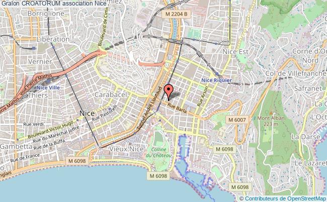 plan association Croatorum Nice