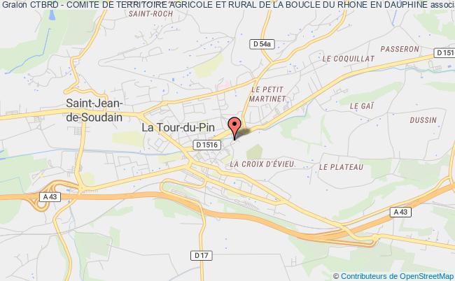 plan association Ctbrd - Comite De Territoire Agricole Et Rural De La Boucle Du Rhone En Dauphine La    Tour-du-Pin