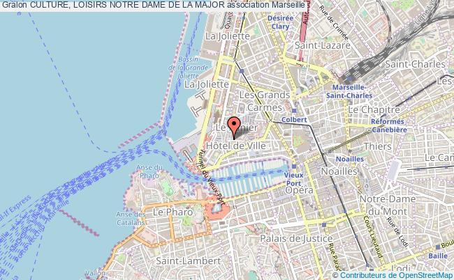 plan association Culture, Loisirs Notre Dame De La Major Marseille