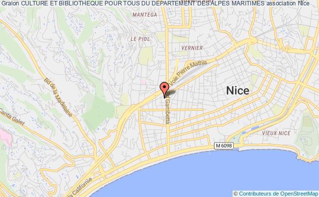 plan association Culture Et Bibliotheque Pour Tous Du Departement Des Alpes Maritimes Nice
