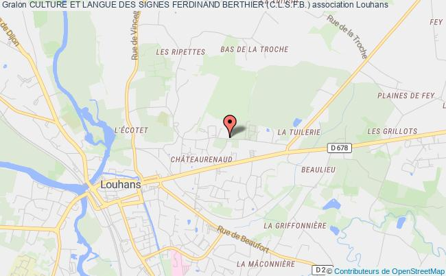 plan association Culture Et Langue Des Signes Ferdinand Berthier (c.l.s.f.b.)