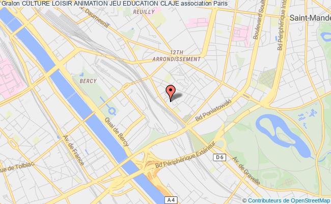plan association Culture Loisir Animation Jeu Education Claje Paris