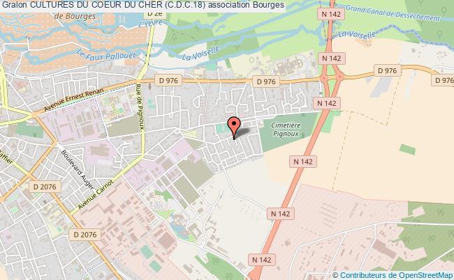 plan association Cultures Du Coeur Du Cher (c.d.c.18) Bourges