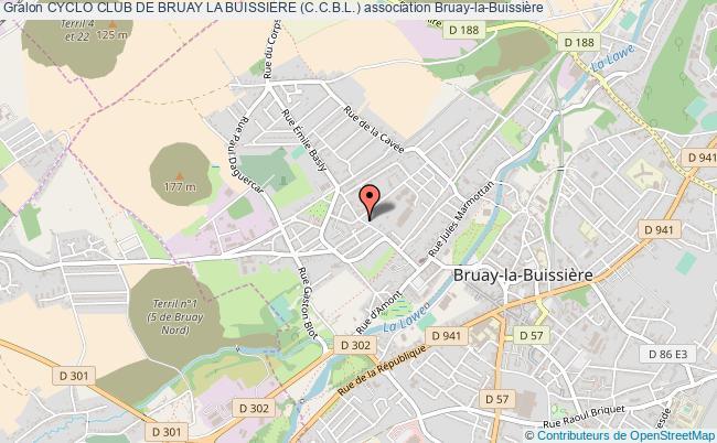 plan association Cyclo Club De Bruay La Buissiere (c.c.b.l.)