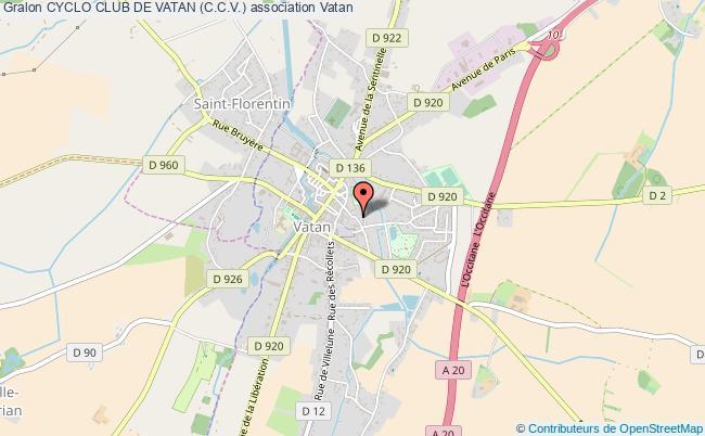 plan association Cyclo Club De Vatan (c.c.v.) Vatan