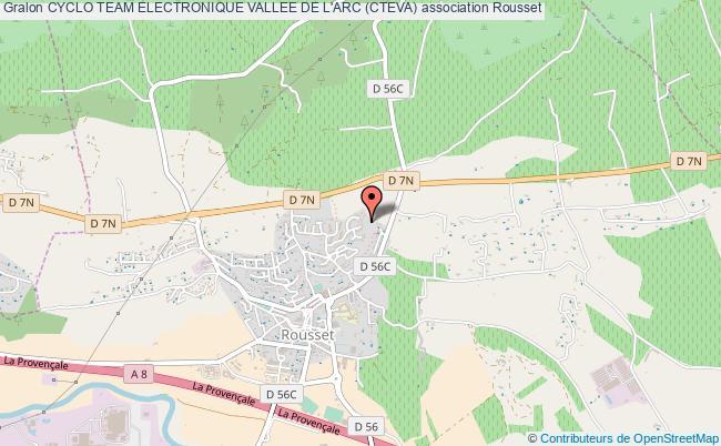plan association Cyclo Team Electronique Vallee De L'arc (cteva) Rousset cedex