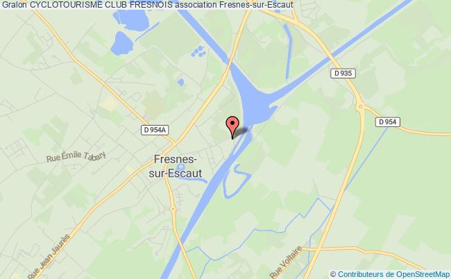 plan association Cyclotourisme Club Fresnois Fresnes-sur-Escaut