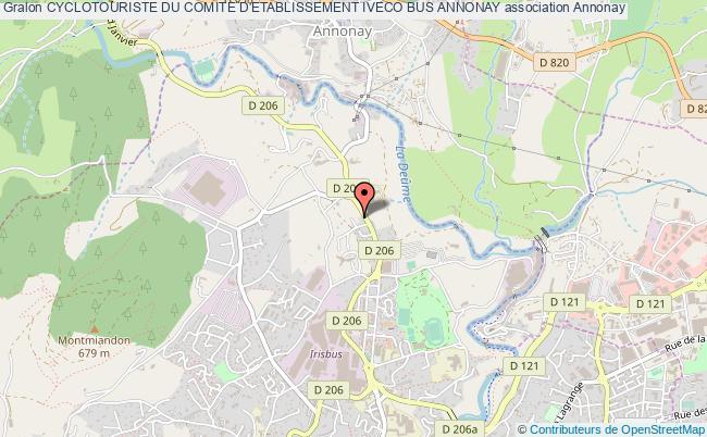 plan association Cyclotouriste Du Comite D'etablissement Iveco Bus Annonay