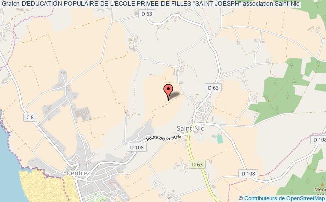 """plan association D'education Populaire De L'ecole Privee De Filles """"saint-joesph"""""""