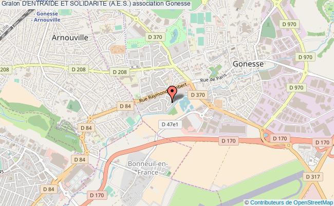 plan association D'entraide Et Solidarite (a.e.s.) Gonesse