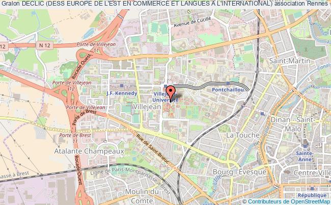 plan association Declic (dess Europe De L'est En Commerce Et Langues A L'international)