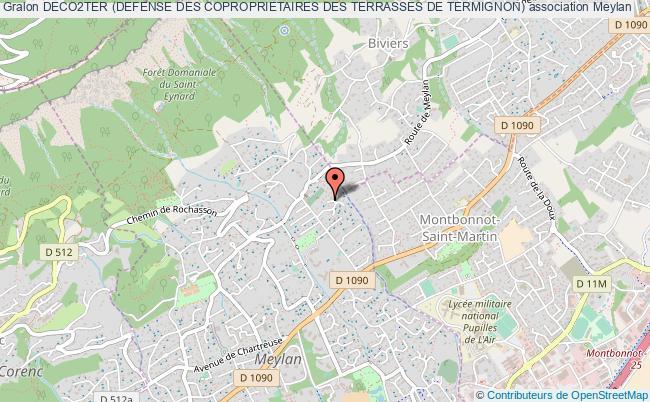 plan association Deco2ter (defense Des Coproprietaires Des Terrasses De Termignon) Meylan