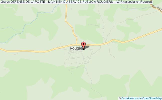 plan association Defense De La Poste - Maintien Du Service Public A Rougiers - (var)